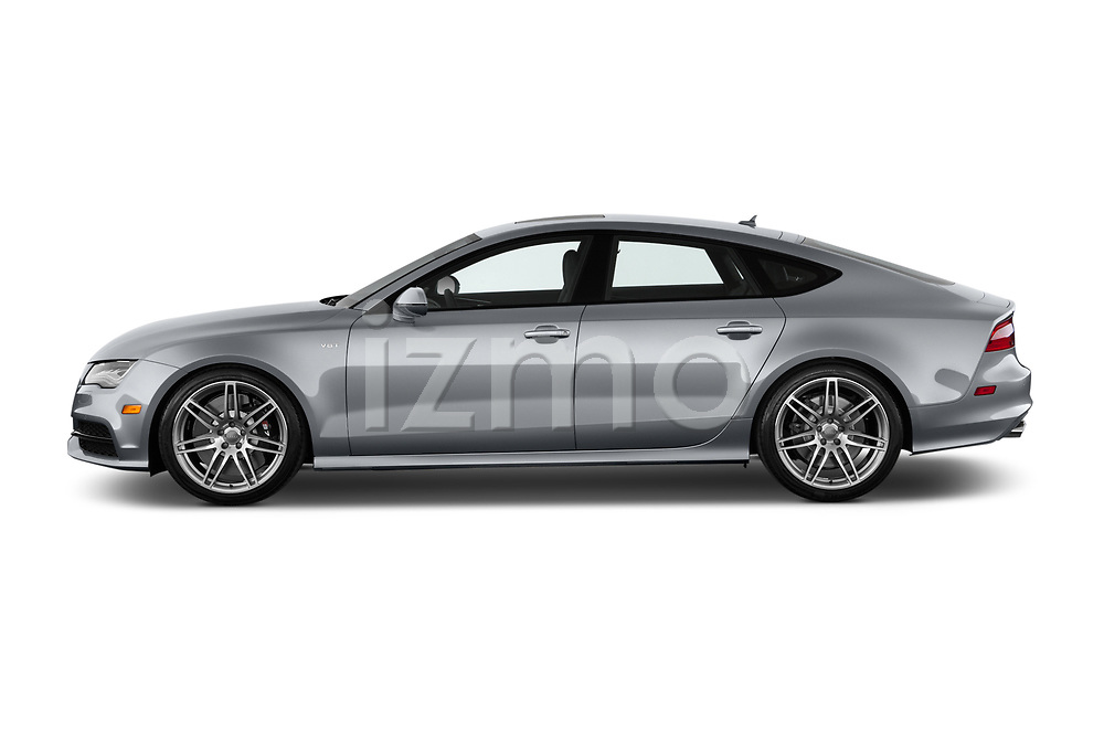Car driver side profile view of a 2015 Audi S7 Base 4 Door Sedan