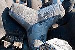 Castro Marina - Salento - Puglia - Frangiflutti di cemento con la caratteristica forma.