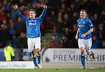 St Johnstone v Dundee United...27.12.14   SPFL<br /> Chris Millar celebrates at full time<br /> Picture by Graeme Hart.<br /> Copyright Perthshire Picture Agency<br /> Tel: 01738 623350  Mobile: 07990 594431