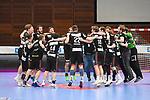 Jubel bei Essen nach dem Sieg in Ludwigshafen beim Spiel in der Handball Bundesliga, Die Eulen Ludwigshafen - Tusem Essen.<br /> <br /> Foto © PIX-Sportfotos *** Foto ist honorarpflichtig! *** Auf Anfrage in hoeherer Qualitaet/Aufloesung. Belegexemplar erbeten. Veroeffentlichung ausschliesslich fuer journalistisch-publizistische Zwecke. For editorial use only.