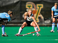 25 October 2009: University of Vermont Catamount midfielder/forward Julie Moy, a Junior from Fishkill, NY, in action against the Columbia University Lions at Moulton Winder Field in Burlington, Vermont. The Lions shut out the Catamounts 1-0. Mandatory Credit: Ed Wolfstein Photo