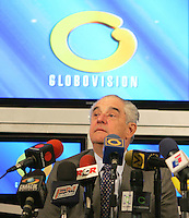 File picture of pro-opposition TV station Globovision President Guillermo Zuloaga is arrested at Punto Fijo airport, 400 miles Westr from Caracas March 25, 2010. Police detained the head of Venezuela's main pro-opposition TV station for his criticism of President Hugo Chavez's government during Interamerican Press Society forum...