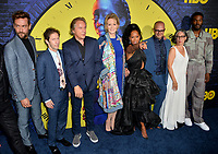 """LOS ANGELES, USA. October 15, 2019: Tom Mison, Tim Blake Nelson, Don Johnson, Jean Smart, Regina King, Damon Lindelof, Nicole Kassell & Yahya Adbul-Meteen II at the premiere of HBO's """"Watchmen"""" at the Cinerama Dome, Hollywood.<br /> Picture: Paul Smith/Featureflash"""