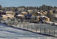 Europe/France/Auvergne/43/Haute-Loire/Parc Naturel Régional du Livradois-Forez/La Chaise-Dieu: Le village sous la neige
