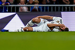 Marcos Llorente of Real Madrid lies injured on the pitch during the La Liga 2018-19 match between Real Madrid and Rayo Vallencano at Estadio Santiago Bernabeu on December 15 2018 in Madrid, Spain. Photo by Diego Souto / Power Sport Images