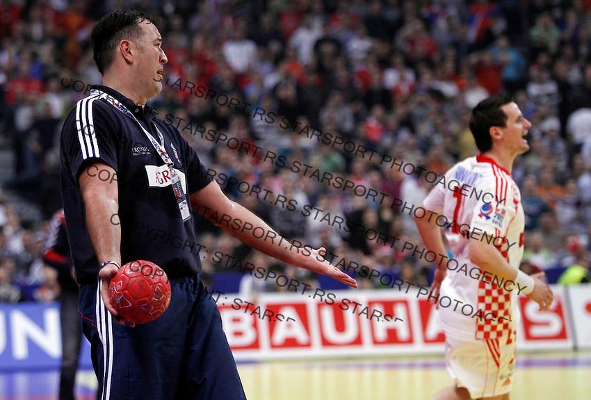 Slavko Goluza during men`s EHF EURO 2012 championship semifinal handball game between Serbia and Croatia in Belgrade, Serbia, Friday, January 27, 2011.  (photo: Pedja Milosavljevic / thepedja@gmail.com / +381641260959)