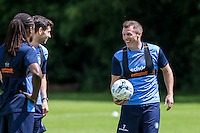 Garry Thompson & Teammates enjoy being back during the Wycombe Wanderers 2016/17 Pre Season Training Session at Wycombe Training Ground, High Wycombe, England on 1 July 2016. Photo by Andy Rowland / PRiME Media Images.