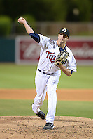 Glendale Desert Dogs pitcher A.J. Acther (40), of the Minnesota Twins organization, during an Arizona Fall League game against the Peoria Javelinas on October 14, 2013 at Camelback Ranch Stadium in Glendale, Arizona.  Glendale defeated Peoria 5-1.  (Mike Janes/Four Seam Images)