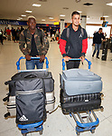Dalcio Gomes and Fabio Cardoso arrive in Glasgow this morning from Lisbon