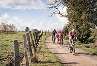 Kasper Asgreen (DEN/Deceuninck - QuickStep) over the Plugstreets<br /> <br /> 82nd Gent-Wevelgem in Flanders Fields 2020 (1.UWT)<br /> 1 day race from Ieper to Wevelgem (232km)<br /> <br /> ©kramon