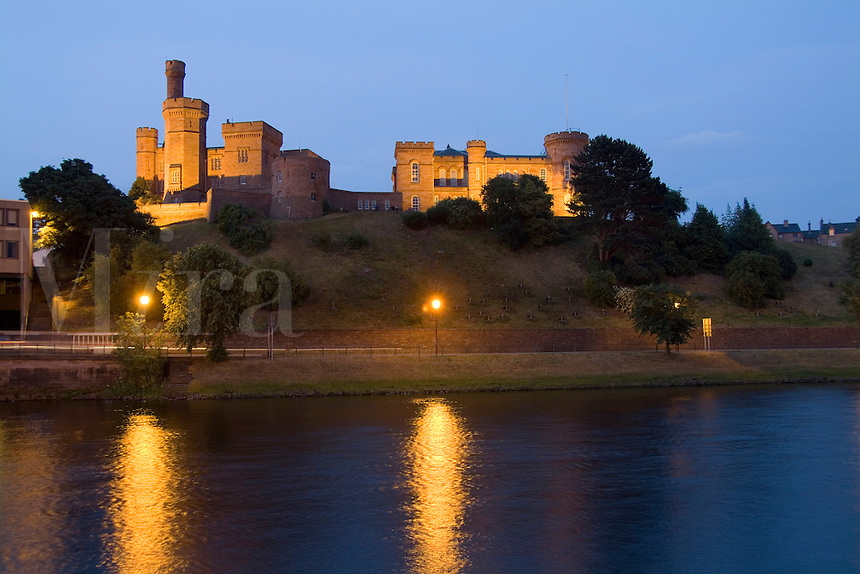 Inverness Castle in quaint town of Inverness, Scotland in the Highlands home of the Loch Ness Monster