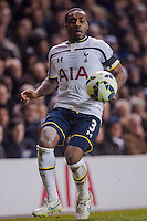 LONDON, ENGLAND - MARCH 04: Danny Rose of Tottenham Hotspur in action during the Premier League match between Tottenham Hotspur and Swansea City at White Hart Lane on March 4, 2015 in London, England.  (Photo by Athena Pictures )