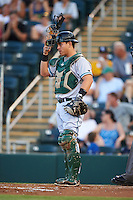 Daytona Tortugas catcher Julio Morillo (3) during a game against the Fort Myers Miracle on June 17, 2015 at Hammond Stadium in Fort Myers, Florida.  Fort Myers defeated Daytona 9-5.  (Mike Janes/Four Seam Images)