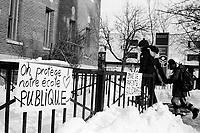 Negociation, ecole publique<br /> <br /> <br /> <br /> PHOTO : Agence Quebec presse
