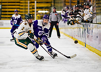 2 February 2020: Holy CrossCrusader Forward Carlie Magier, a Sophomore from Allen Park, MI, in first period action against the University of Vermont Catamounts at Gutterson Fieldhouse in Burlington, Vermont. The Lady Cats rallied in the 3rd period to tie the Crusaders 2-2 in NCAA Women's Hockey East play. Mandatory Credit: Ed Wolfstein Photo *** RAW (NEF) Image File Available ***