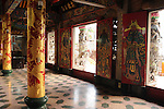 Bao-jhong Yi-min Temple, Kaohsiung -- Colorful entrance hall of a Taoist temple.