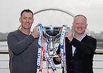Chris Sutton and Alex McLeish in BT Sport promo in Glasgow