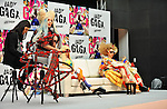 """Lady Gaga and A Gagadoll, Dec 01, 2013 : Tokyo, Japan : Singer Lady GAGA attends a press conference for her new album """"ARTPOP"""" in Tokyo, Japan, on December 1, 2013."""