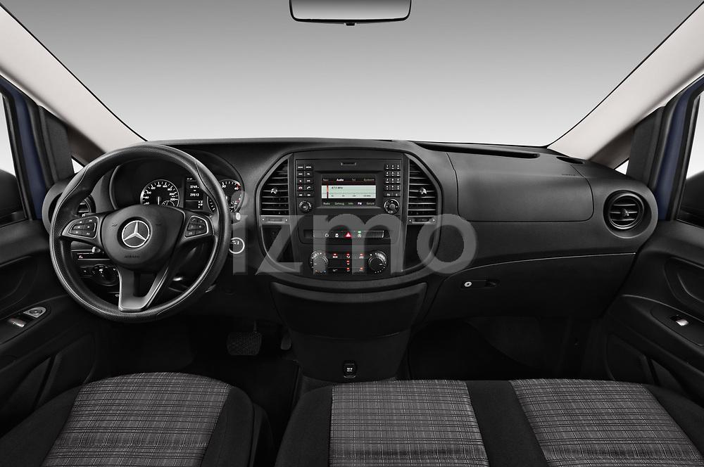 Stock photo of straight dashboard view of 2017 Mercedes Benz Vito-Tourer Pro 4 Door Combi Dashboard