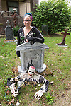 October 12, 2017- Tuscola, IL- Tuscola's Deidre Carpenter proudly displays her Halloween creations in her front yard. Carpenter, a local artist, makes her own Halloween decorations.  [Photo: Douglas Cottle]