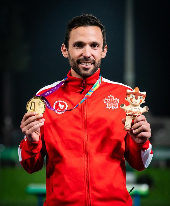 Guillaume Ouellet, Lima 2019 - Para Athletics // Para-athlétisme.<br /> Guillaume Ouellet takes the gold in the men's 1500m T13 final // Guillaume Ouellet remporte la médaille d'or dans la finale masculine du 1500 m T13. 24/08/2019.
