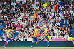 Geoffrey Kondogbia of Valencia CF celebrates during their La Liga 2017-18 match between Real Madrid and Valencia CF at the Estadio Santiago Bernabeu on 27 August 2017 in Madrid, Spain. Photo by Diego Gonzalez / Power Sport Images