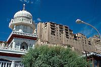 Indien, Ladakh (Jammu+Kashmir), Leh: Palast + Moschee