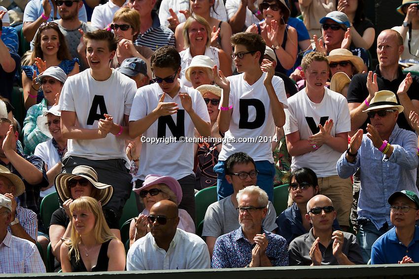 England, London, 28.06.2014. Tennis, Wimbledon, AELTC, Andy Murray fans<br /> Photo: Tennisimages/Henk Koster