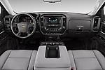 Stock photo of straight dashboard view of 2018 Chevrolet Silverado-1500 1LS-Crew-Cab-Short-Box 4 Door Pickup Dashboard
