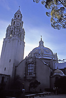 Museum of Man,Balboa Park,San Diego. Built in 1915. Designed by Bertram Goodhue in Churriqueresque style. Photo Jan. 1987.
