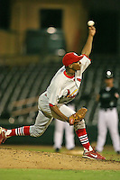 April 13, 2009:  Pitcher Samuel Freeman (41) of the Palm Beach Cardinals, Florida State League Class-A affiliate of the St. Louis Cardinals, delivers a pitch during a game at Hammond Stadium in Fort Myers, FL.  Photo by:  Mike Janes/Four Seam Images