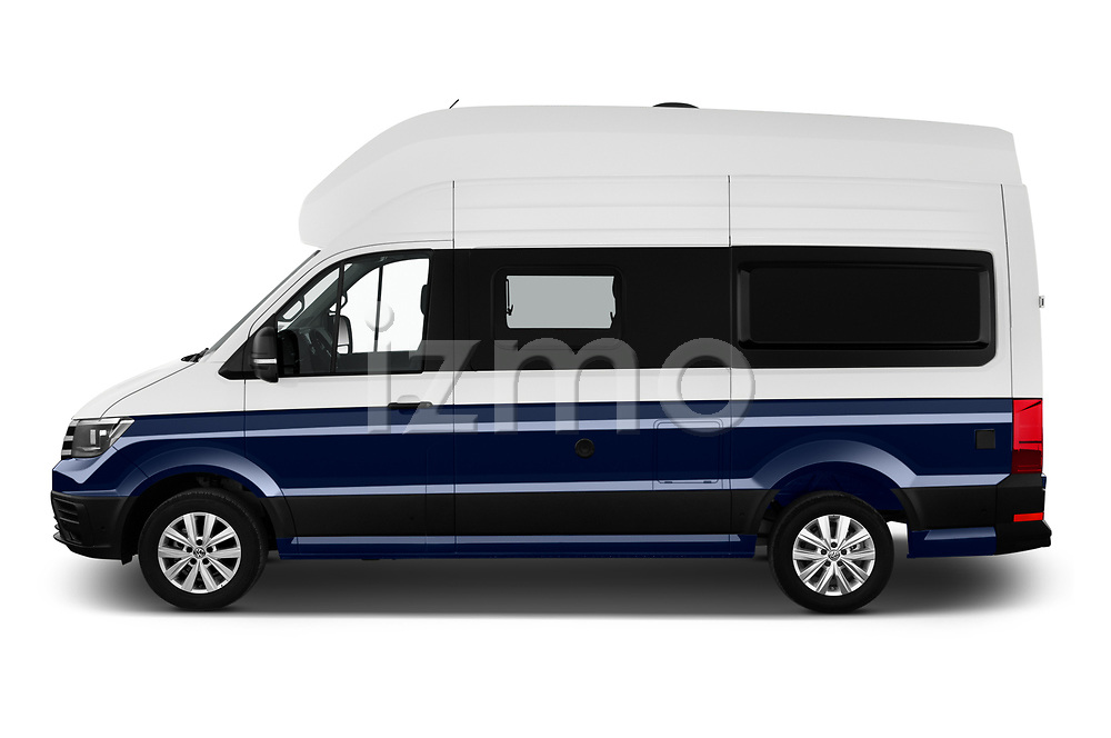 Car Driver side profile view of a 2020 Volkswagen Grand-California 600 4 Door Refrigerated Van Side View