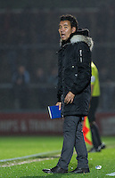 Ricardo Moniz Manager of Notts County during the Sky Bet League 2 match between Wycombe Wanderers and Notts County at Adams Park, High Wycombe, England on 15 December 2015. Photo by Andy Rowland.