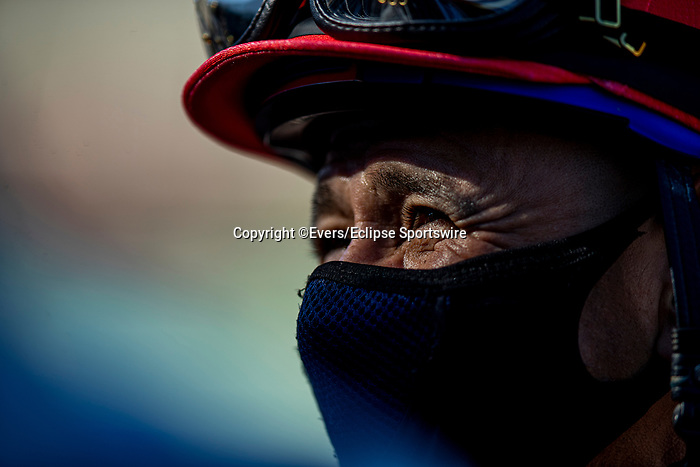 March 06, 2021: Mike Smith at the San Felipe Stakes at Santa Anita Park in Arcadia, California on March 06, 2021. Evers/Eclipse Sportswire/CSM