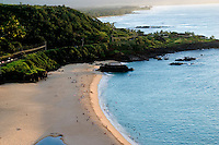 View of Waimea bay from above.