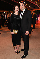 BEVERLY HILLS - JANUARY 5: (L-R) President, Creative Affairs, 20th Century Fox Television Carolyn Cassidy and Zachary McGee attend The Walt Disney Company 2020 Golden Globe Awards Nominee Celebration at The Disney Terrace on the Roof Deck at the Beverly Hilton on January 5, 2020 in Beverly Hills, California. (Photo by Frank Micelotta/The Walt Disney Company/PictureGroup)