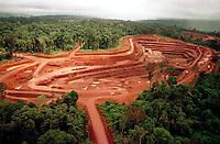 Mina de Ouro do Igarapé Bahia explorada pela CVRD-Companhia Vale do Rio Doce no sul do Pará.<br />Foto Paulo Santos/Interfoto. Mina de ouro do igarapé Bahia