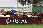 October 01, 2017, Chantilly, FRANCE -  Wild Illusuion with James Doyle up wins the Prix Marcel Boussac - Criterium des Pouliches (Gr. I) at  Chantilly Race Course  [Copyright (c) Sandra Scherning/Eclipse Sportswire)