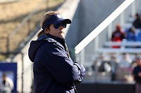 DURHAM, NC - FEBRUARY 29: Head coach Deanna Gumpf of the University of Notre Dame during a game between Notre Dame and Duke at Duke Softball Stadium on February 29, 2020 in Durham, North Carolina.