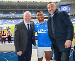 15.05.2021 Rangers v Aberdeen: Ally McCoist, Alfredo Morelos and Kris Boyd