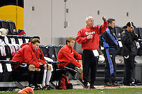 St. John's Red Storm head coach Dr. Dave Masur. St. John's defeated Villanova 2-0 during the second semifinal match of the Big East Men's Soccer Championships at Red Bull Arena in Harrison, NJ, on November 11, 2011.
