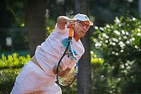 Hilversum, The Netherlands,  August 23, 2019,  Tulip Tennis Center, NSK, Frits Raijmakers (NED)<br /> Photo: Tennisimages/Henk Koster