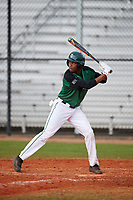 Dartmouth Big Green shortstop Blake Crossing (13) at bat during a game against the Southern Maine Huskies on March 23, 2017 at Lake Myrtle Park in Auburndale, Florida.  Dartmouth defeated Southern Maine 9-1.  (Mike Janes/Four Seam Images)