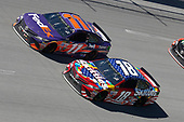 Monster Energy NASCAR Cup Series<br /> GEICO 500<br /> Talladega Superspeedway, Talladega, AL USA<br /> Sunday 7 May 2017<br /> Kyle Busch, Joe Gibbs Racing, Skittles Red, White, & Blue Toyota Camry Denny Hamlin, Joe Gibbs Racing, FedEx Express Toyota Camry<br /> World Copyright: Matthew T. Thacker<br /> LAT Images<br /> ref: Digital Image 17TAL1mt1510