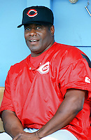 Ken Griffey Sr. of the Cincinnati Reds before a 1999 Major League Baseball season game against the Los Angeles Dodgers in Los Angeles, California. (Larry Goren/Four Seam Images)