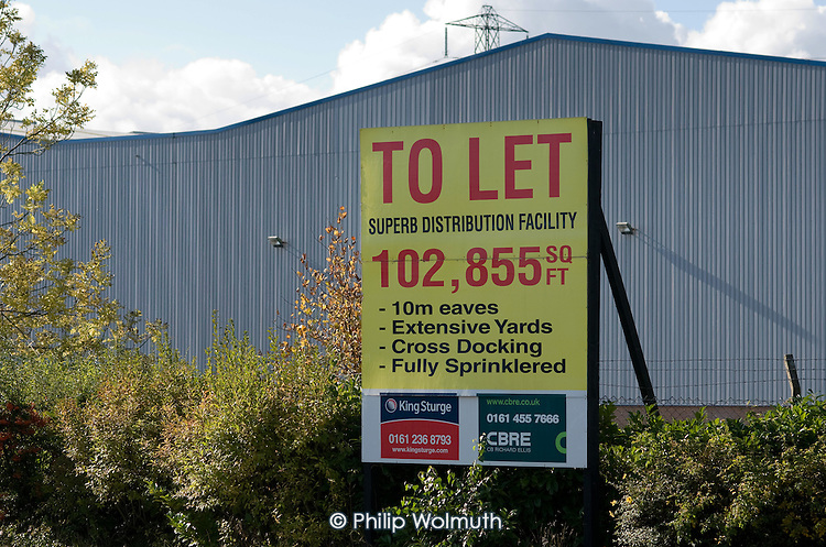 Half the warehouses in the massive Stakehill Industrial Estate, Oldham, are empty following the relocation or closure of a number if major retailers.  The distribution centre has been a source of 'entry level' (minimum wage)employment for the Rochdale and Oldham area.
