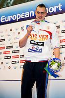 Szczecin Poland - Stettino Polonia POL country Dec.8 - 12 2011 .European Swimming Short Course Championships.Swimming Nuoto -Day 01 Final.50 free men.FESIKOV Sergey RUS.silver medal..Insidefoto / Giorgio Scala