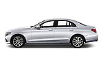Car driver side profile view of a 2018 Mercedes Benz E Class Business Solution 4 Door Sedan