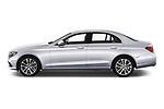 Car driver side profile view of a 2018 Mercedes Benz E Class Business Solution 4 Door Sedan