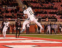 Richard Rodgers of California scores a touchdown during the game against Utah at Rice-Eccles Stadium in Salt Lake City, Utah on October 27th, 2012.   Utah Utes defeated California, 49-27.